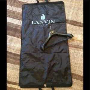 Lanvin Other - Lanvin Nylon Garment Bag and Hanger