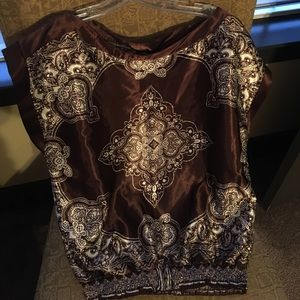HeartSoul Tops - Brown shirt- juniors large