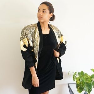 Jackets & Blazers - Vintage Gold Flame Leather Jacket