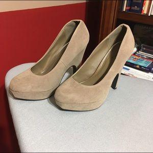 MakeMeChic Shoes - Nude Heels