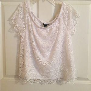 Lace Off-Shoulder Shirt