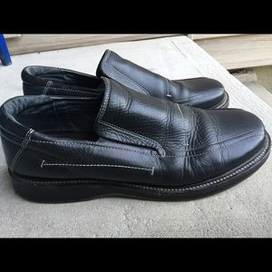 Robert Wayne Shoes - Men's Robert Wayne Black Leather Slip On Shoes 13M