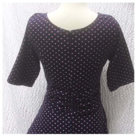 Eshakti New Eshakti Navy Polka Dot Fit Amp Flare Dress Xl