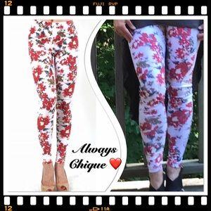 Classic Woman Pants - Floral Leggings