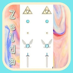 Nintendo Jewelry - Set of five Zelda earrings