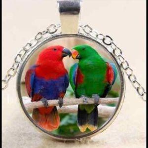 "Jewelry - Love ❤️ Birds 19"" Chain Necklace Parrots"