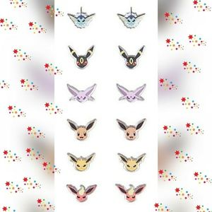 Nintendo Jewelry - Six sets of Pokemon earrings