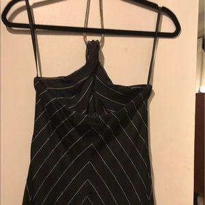Ralph Lauren pinstriped silk dress