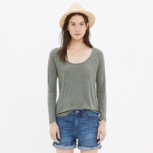 Madewell Anthem Scoop Tee Green