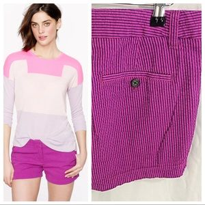 J. Crew Seersucker Short in Fuchsia
