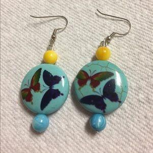 Jewelry - Butterfly Bead Pierced Earrings