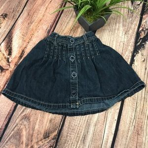 Old Navy Other - Old Navy girls denim blue jean button skirt