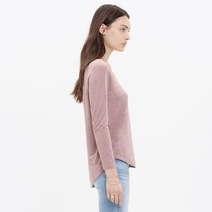 Madewell Anthem Scoop Tee Dusty Pink