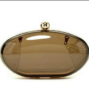 Pink Haley Handbags - Oval Black Clutch by Pink Haley