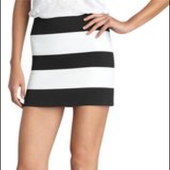 5a8a98b6cc Pleasure Doing Business Skirts | Blackwhite Mini Skirt | Poshmark