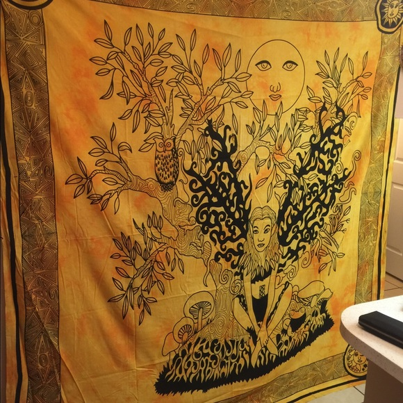 Free People Accessories - Tree of life fairy Tapestry wall hanging.