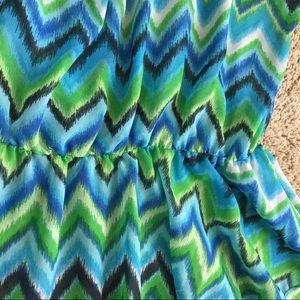 Lucy Tops - Breezy Aqua Watercolor Top