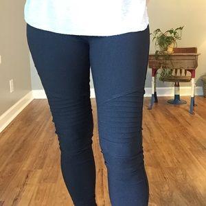 Pants - Black Moto Jeggings