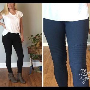 Pants - Black Moto Leggings