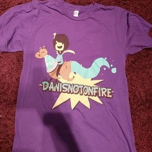 Purple Danisnotonfire t-shirt