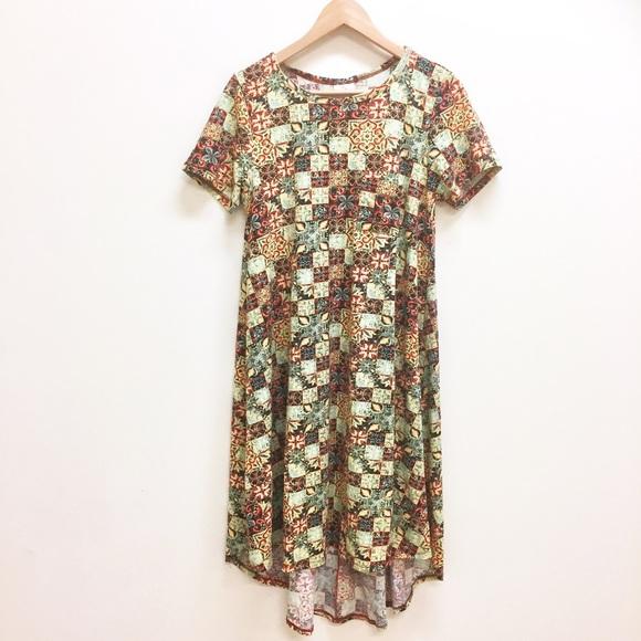 100e284a4cfc LuLaRoe Dresses & Skirts - LulaRoe Carly dress mosaic patchwork like new