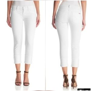 Hudson Jeans Denim - Hudson Jeans Muse Crop Cuff Jeans White