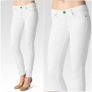 Paige Jeans Denim - Paige Verdugo Ankle Skinny Jeans In Optic White