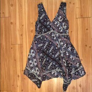 printed dress flowy vneck printed tribal