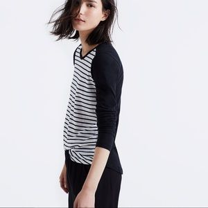 Madewell Whisper Tee in Stripeblock
