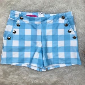 Macbeth Collection Pants - NWT Macbeth Collection Blue Gingham Shorts