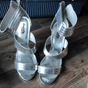 Charlotte Russe Shoes - Silver heels