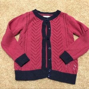 Tucker + Tate Other - Tucker&Tate 100% cotton pink knit cardigan size 3