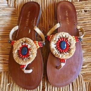 Nine West slip on Sandals
