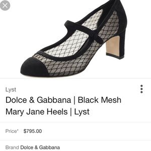 fcc861f2da74 New authentic dolce and gabbana Mary Jane 36.5