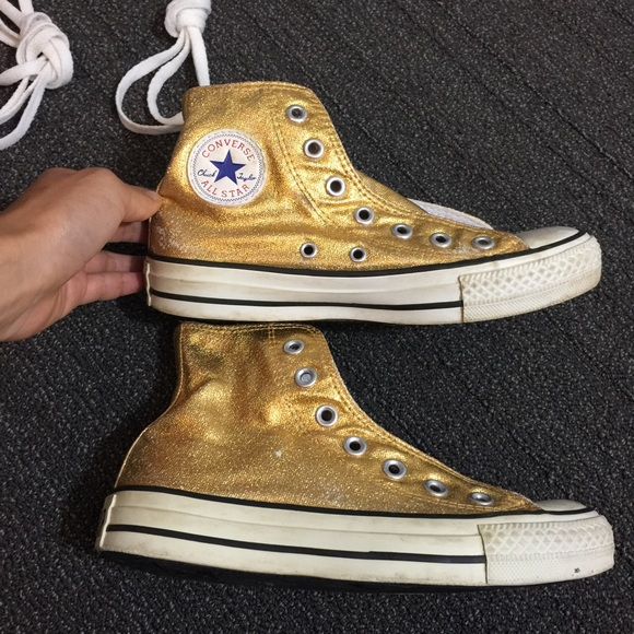 c307aa2ba5e3 Converse Shoes - Converse Chuck Taylor All Star Chucks Hi top Gold