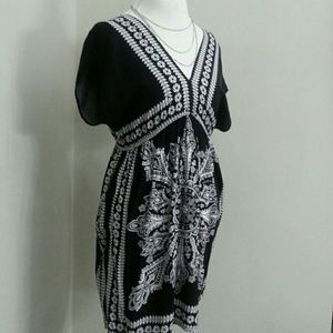Cute B&W Bandana Dress