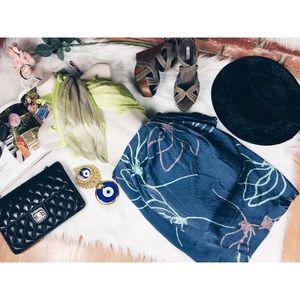 RARE Sariah Limited Edition Hand Print Silk Skirt6