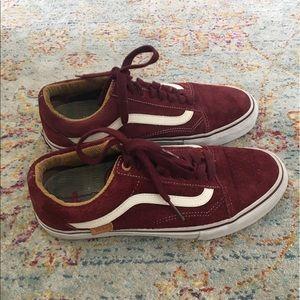 Vans Shoes - Red Suede Vans Old Skool Pro Vans men s ... 6a188c56e