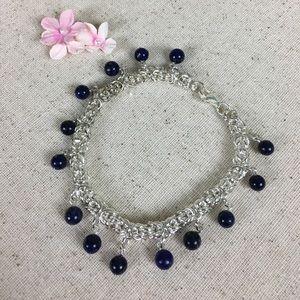 Jewelry - 💕 Lapis Lazuli Stainless Steel Bracelet