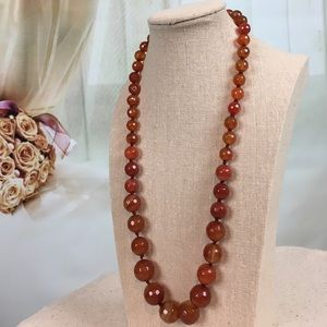 Jewelry - Red Agate Stainless Steel Necklace