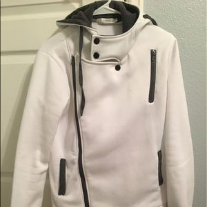 Jackets & Blazers - Plush White Hooded Jacket