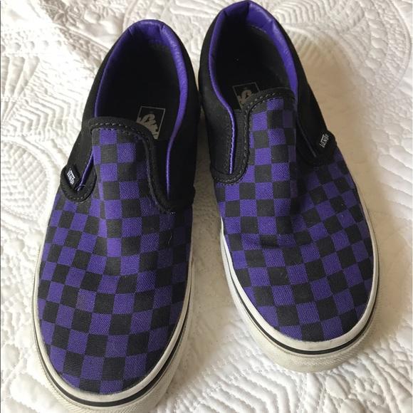 Vans Shoes | Vans Slip On Purple Black