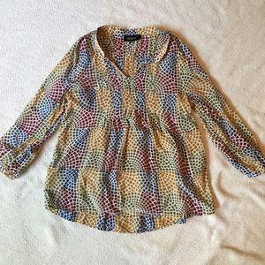 Tolani Tops - Tolani Mosaic 100% Silk Tunic - medium