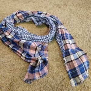 American Colors Accessories - Reversible Plaid Blanket Scarf