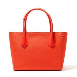 "Dagne Dover Handbags - Dagne Dover 15"" tote in vermillion"