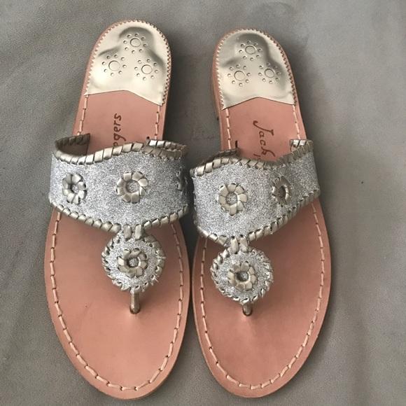 9fa77bfc797d35 Jack Rogers Glitter Navajo Sandals- Size 6-NWT