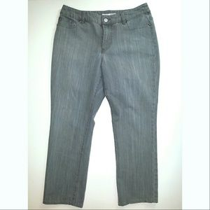 Chico's Platinum Grey Cropped Jeans Size 1.5 Short