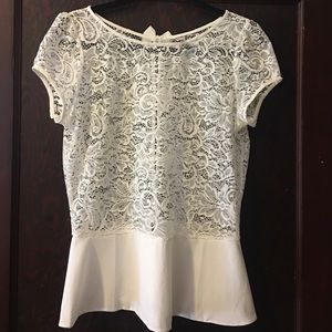 Tops - 💥 Brand new. White lace blouse made in Paris