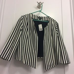 Forever 21 PLUS Black and White Striped Jacket