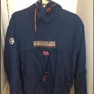 Napapijri Jackets & Blazers - Navy blue napapijri pullover coat kids size 14